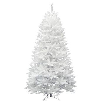 "7.5' x 52"" Sparkle White Spruce 1257 Tips christmas tree"