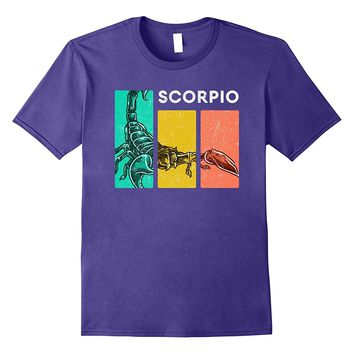 Retro Scorpio Zodiac Sign Shirt : Horoscope Astrology Stuff