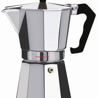 Wee's Beyond Aluminum Brew-Fresh Espresso/Coffee Maker 6-Cup 7526-06