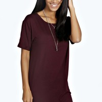 Rochelle Turn Back Sleeve TShirt Dress