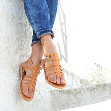 KLEOPATRA, Sandals, Leather sandals, Gladiator sandals for women, Greek sandals
