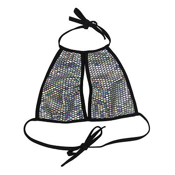 Galactic Prism Keyhole Halter Top