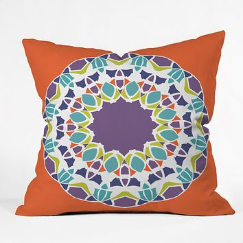 Karen Harris Mod Medallion Mulberry Throw Pillow