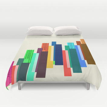 towers Duvet Cover by Haroulita