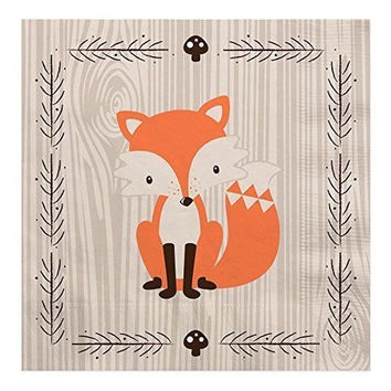 Woodland Creatures - Baby Shower or Birthday Party Luncheon Napkins (16 count)