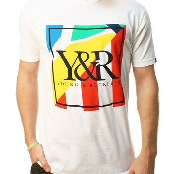 Young & Reckless Men's Trademark Stripes Graphic T-Shirt