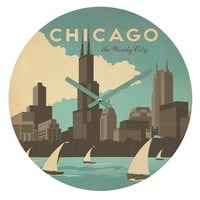 Anderson Design Group Chicago Round Clock