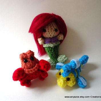Little Mermaid Amigurumi Set