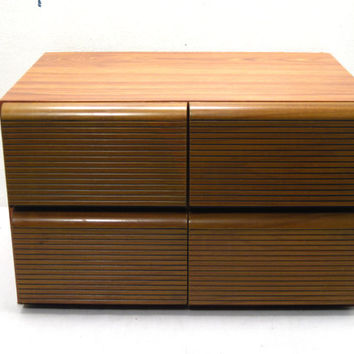 Wood, VHS, Video, Cassette, Tape, Movie, Cabinet, Storage, Faux, Box, Small, Multi, Drawer, Case, Kids, Playroom, Accessory, Retro, Chic