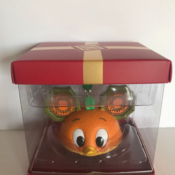 Disney Park Holiday Subscription Orange Bird Ear Hat Ornament New With Box