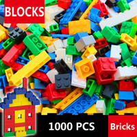 1000 Pcs Building Bricks Set City DIY Creative Brick Toys For Child Educational Building Block Bulk Bricks Compatible With lepin