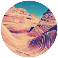 Wavey Red Rock Circle Wall Decal