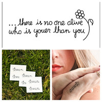 Youer Than You  temporary tattoo Set of 3 by Tattify on Etsy