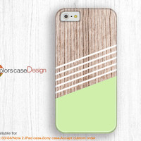 Personalized IPhone 5s case,green Geometric wolld,IPhone 5 case,IPhone 5c case,IPhone 4 case,IPhone 4s case, Full Wrap-Around Print