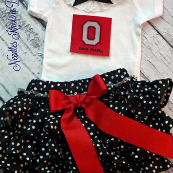 Girls Ohio State Buckeyes Outfit, Baby Girls Ohio State Coming Home Outfit, Game Day, Buckeyes Football