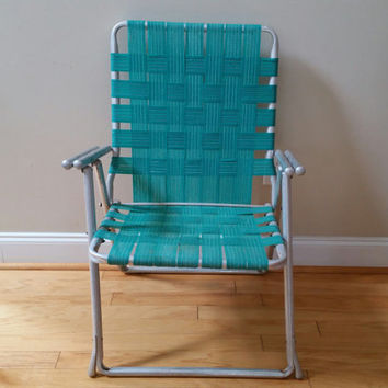 Vintage Folding Aluminum Lawn Chair