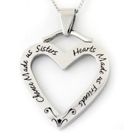 Chance Made Us Sisters Hearts Made Us Friends Pendant Necklace - Sister Necklace - Friendship Necklace