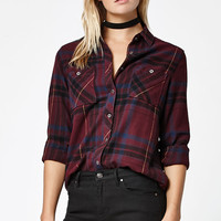 LA Hearts Plaid Button-Down Shirt at PacSun.com