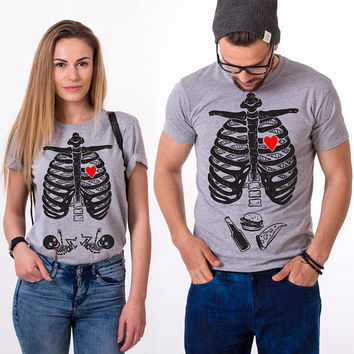 TWIN Maternity Shirt, Skeleton Shirt, Mom Shirt, Maternity Shirt for Twin Babies, Maternity T-shirt, UNISEX