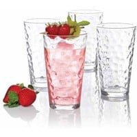 Gibson Home Cali Bubbles 16oz Glass Tumbler Set, 4pk - Walmart.com
