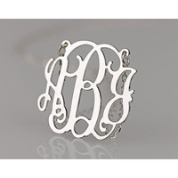 Script Monogram Necklace in .925 Sterling Silver