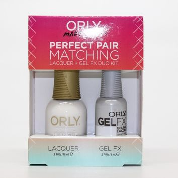 ORLY Perfect Pair Nail Polish + Gelfx Duo Kit Pointe Blanche