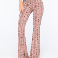 Lira Geo Womens Flare Pants Coral  In Sizes