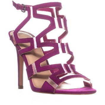 Guess Padton4 Heeled Sandals, Pink Multi, 6 US