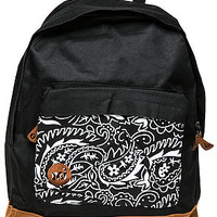 The Paisley Backpack in Black