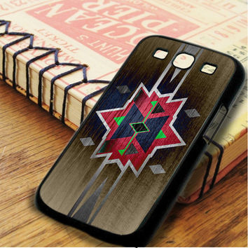 Wood Print Aztec Red Pattern Samsung Galaxy S3 Case