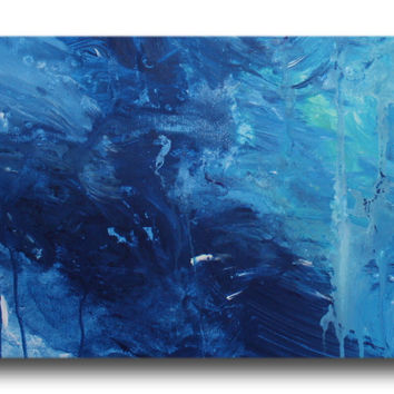 Abstract art canvas painting.