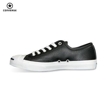 2017 new Original Converse JACK PURCELL sneakers shoes man and women Unisex PU Leather black color Skateboarding Shoes 101503