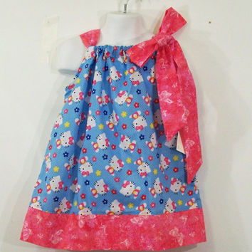 Girls Pillowcase Dress-Hello Kitty--Made in the USA-Baby-Toddler-Big Girl