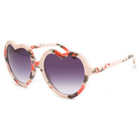 Full Tilt Loren Sunglasses Peach One Size For Women 23833570601