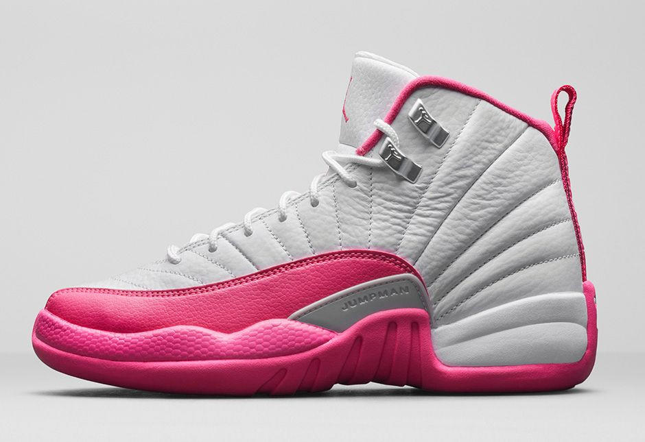 JORDAN 12 PINK from 23 Laces 3b6bf8493
