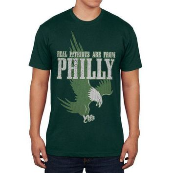 CREYON Real Patriots Are From Philly Vintage Distressed Mens T Shirt