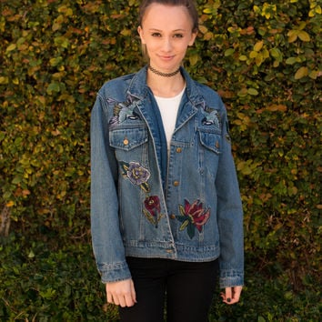 """Julia"" Embroidered Denim Jacket"