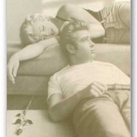 "James Dean & Marilyn Monroe - Personality Poster (Lounging) (Size: 24"" x 36"")"