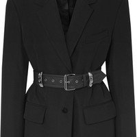 Alexander Wang - Oversized belted studded wool blazer