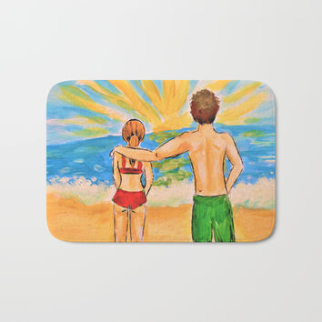 Beach Day Bath Mat by Mallory Marrs