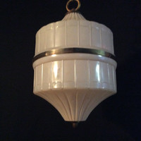 Antique Vintage Art Deco Pendant Light Foyer Hallway 1940s