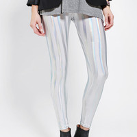 Urban Outfitters - Sparkle & Fade Foil-Stripe Legging