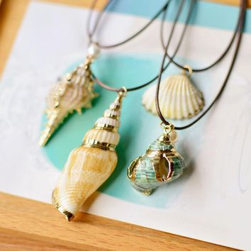 Fashion Conch & Seashell  Necklace