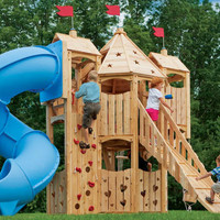 Frolic 9 Wooden Playset and Swing Set | CedarWorks