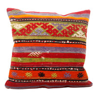 Kilim Pillow, 20x20, Chic, Chevron pattern, Striped, Modern, House Decor, Stylish, Designer's Pillow, Cushion Cover - AY612141015