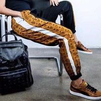 MCM Supreme Woman Men Casual Fashion Loose Pants Trousers