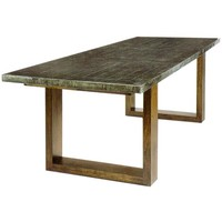 Regina Andrew Zinc Dining Table w/ Parquet Top