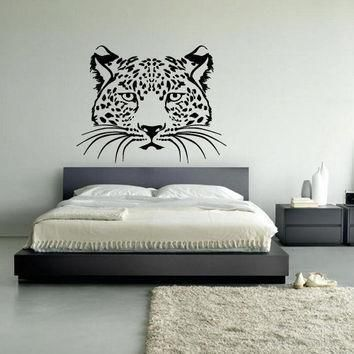 wall decal vinyl art decor sticker design wild cat panther leopard puma jaguar lion an  number 3