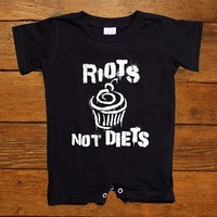 Riots Not Diets #3 Cupcake -- Baby Onesuit