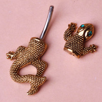 New Design Gecko Lizard Piercing Navel Belly Button Rings Body Piercing Jewelry Bijuterias Personality Accessories 1.4mm Barbell